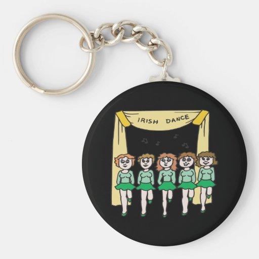 Danza del irlandés llaveros personalizados