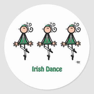 Danza del irlandés pegatina redonda