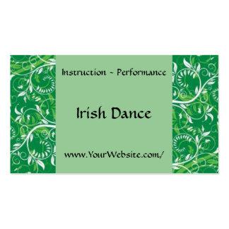 Danza del irlandés - plantilla de la tarjeta de vi tarjetas de visita