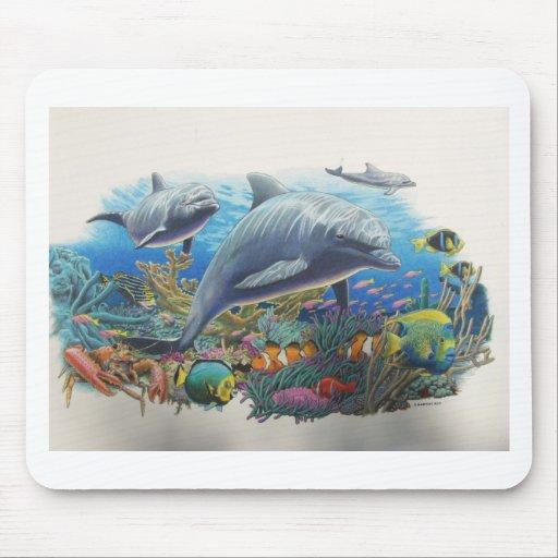 Danza del mar del delfín tapetes de raton