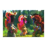 danza del nativo americano impresión en lienzo estirada
