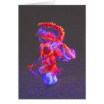 Danza del nativo americano - rojo - notecards