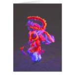 Danza del nativo americano - rojo - notecards tarjeta