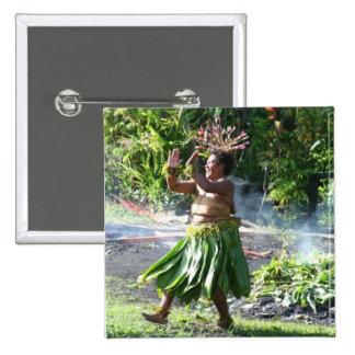 Danza del paseo de fuego de South Pacific Pin Cuadrado