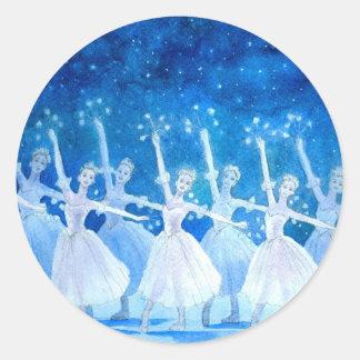 Danza del pegatina de los copos de nieve