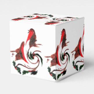 Danza del petirrojo del acebo cajas para detalles de boda
