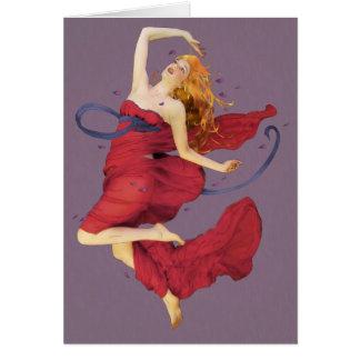 Danza del placer tarjeta de felicitación
