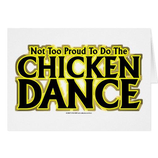 Danza del pollo felicitación