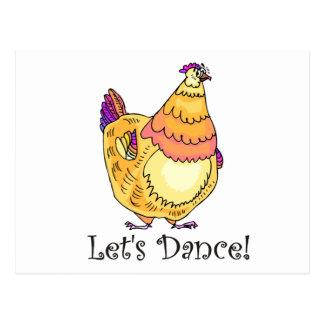 Danza del pollo tarjeta postal