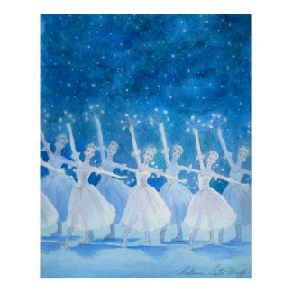 Danza del poster de los copos de nieve