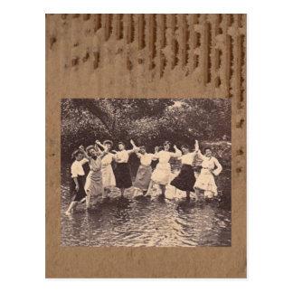 Danza del río tarjeta postal
