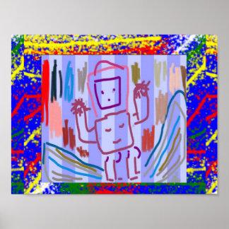 Danza del ROBOT del arte de los juegos del juego d Póster