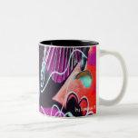 Danza del té del arte de la calle taza de café