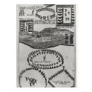 Danza del tubo de paz del Iroquois Tarjetas Postales