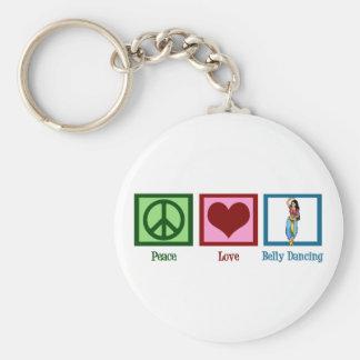 Danza del vientre del amor de la paz llavero personalizado