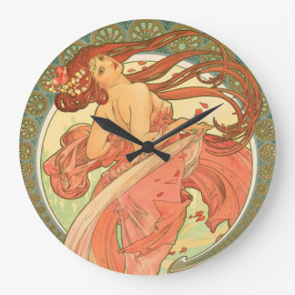 Danza del vintage de Alfonso Mucha Reloj