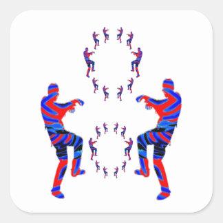 Danza del zombi - sorteos de PaperCraft de los Pegatina Cuadrada