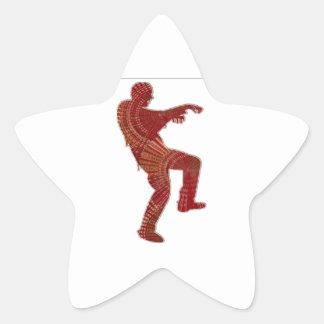 Danza del zombi - sorteos de PaperCraft de los Pegatina En Forma De Estrella
