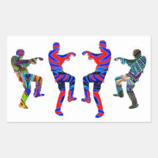 Danza del zombi - sorteos de PaperCraft de los Pegatina Rectangular