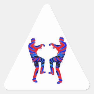 Danza del zombi - sorteos de PaperCraft de los Pegatina Triangular
