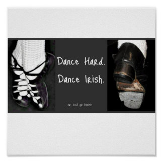 Danza difícilmente.  Irlandés de la danza. o apena Poster