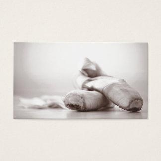 Danza - el viejo ballet Pointe calza Tarjeta De Negocios