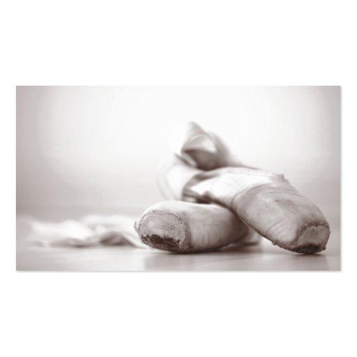 Danza - el viejo ballet Pointe calza Tarjetas De Visita