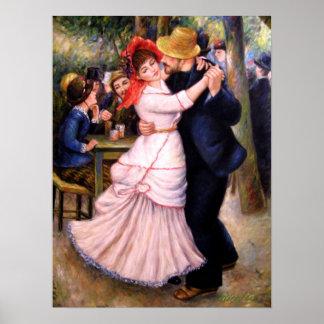Danza en Bougival 1882, impresión de la reproducci Poster
