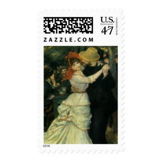 Danza en Bougival de Pedro Renoir, arte del Sellos Postales
