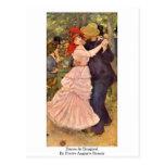 Danza en Bougival de Pierre-Auguste Renoir Postal