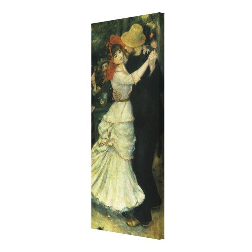 Danza en Bougival por Renoir, impresionismo del Impresiones En Lona Estiradas