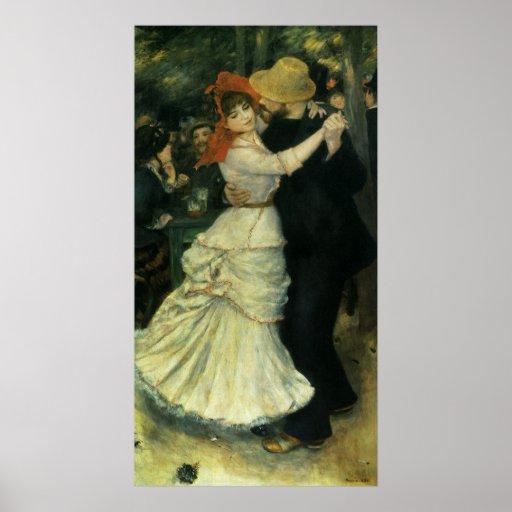 Danza en Bougival por Renoir, impresionismo del Poster