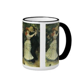 Danza en Bougival por Renoir, impresionismo del Taza