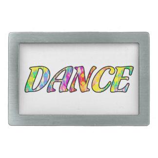 Danza en colores prismáticos brillantes del arco hebilla cinturón rectangular