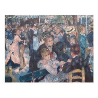 Danza en el la Galette de Le Moulin de Tarjetas Postales