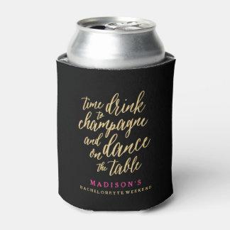 Danza en el neverita de bebidas del cuadro el   enfriador de latas