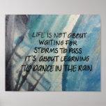 Danza en el poster de la lluvia
