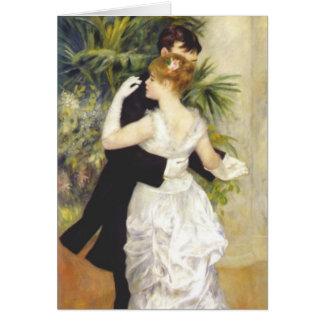 Danza en la ciudad por Renoir Tarjeta De Felicitación