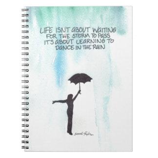 Danza en la lluvia libretas