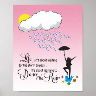 Danza en la lluvia póster