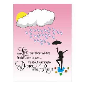 Danza en la lluvia tarjetas postales