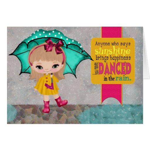 Danza en la tarjeta de la lluvia