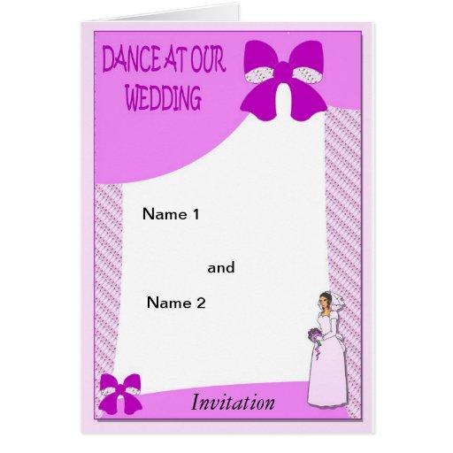 Danza en nuestros arcos del rosa del boda tarjeta de felicitación