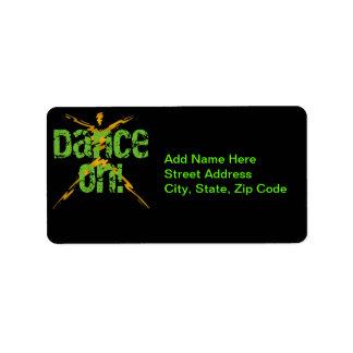 Danza encendido etiquetas de dirección