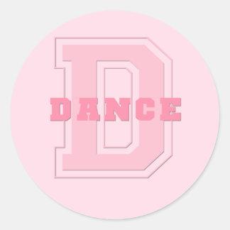 Danza Etiquetas Redondas