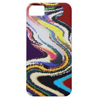 Danza feliz - ondas del vitral iPhone 5 funda