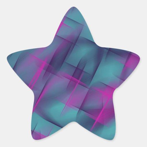 Danza fucsia pegatina forma de estrella