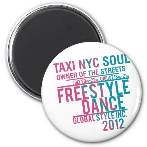 danza global del alma del nyc del taxi imán de frigorífico