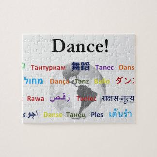 Danza global - la lengua global personalizable rompecabezas con fotos