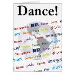 Danza global - la lengua global (personalizable) tarjeta de felicitación